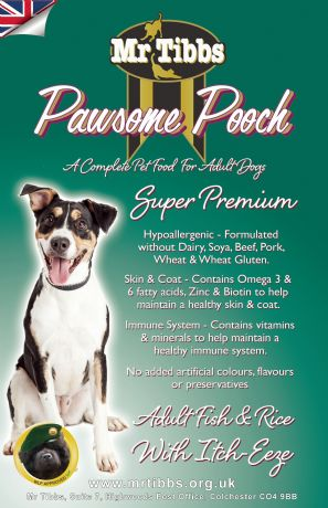 SUPER PREMIUM ADULT DOG ~ Fish & potato with Itch-Eeze ®. (Grain & Cereal Free)